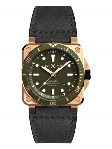 BR03-92 DIVER GREEN BRONZE